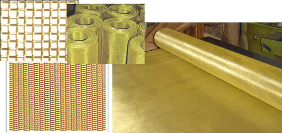 120 Mesh Ultra Thin Brass Wire Mesh Plain Weave With 0.076mm - 3.522mm Opening