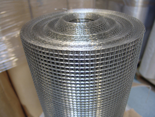 "Pvc Coated Welded Wire Mesh Panels 1/4"" X 1/4"" For Runway Enclosures / Egg Baskets"
